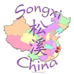 Songxi China Color Map