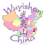 Wuyishan China Color Map