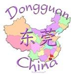 Dongguan China Color Map