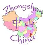 Zhongshan China Color Map
