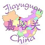 Jiayuguan China Color Map