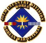 Army - 40th ID w Korean War SVC Ribbons