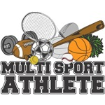 Multi-Sport Athlete T-Shirts and Gifts