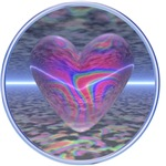 Pink 3D Psychedelic Heart