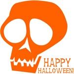 Happy Halloween Skull (Orange)