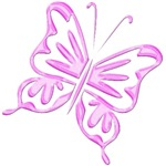 Pink Retro Butterfly