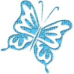Puzzle Pieces Retro Butterfly