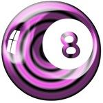 Purple n Black Retro 8 Ball