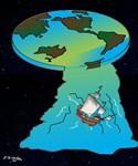 Flat Earth Cartoon 7540