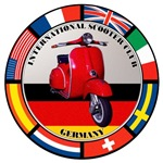 GERMANY VESPA SCOOTER FLAG T-SHIRTS & GIFT