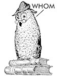 Grammar Owl Says Whom