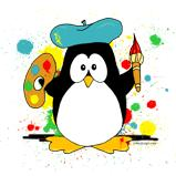 Artistic Penguin Painter T-Shirts & Gifts