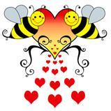 Bumble Bees & Hearts