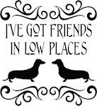 Friends In Low Dachshund