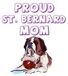Proud St. Bernard mom
