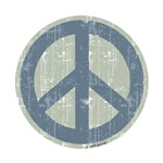 Urban Peace Sign - Denim