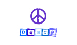Blue Peace Sign