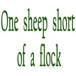 One sheep short