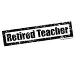 Retired teacher distressed rubber stamp