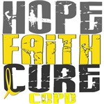 Hope Faith Cure COPD T-Shirts and Apparel