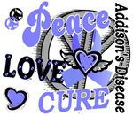 Peace Love Cure 2 Addison's Disease Shirts and Gif