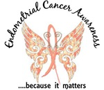 Endometrial Cancer Butterfly 6.1 T-Shirts