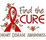 Find the Cure 3 Heart Disease Shirts