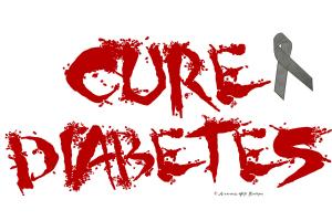 Cure Diabetes Graffiti Red