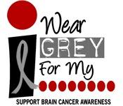 I Wear Grey 9 Brain Cancer Shirts & Gifts
