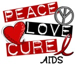 PEACE LOVE CURE AIDS T-Shirts & Gifts