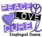 PEACE LOVE CURE Esophageal Cancer Shirts & Apparel