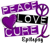 PEACE LOVE CURE Epilepsy T-Shirts & Apparel