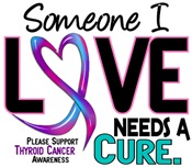 Needs A Cure 2 THYROID CANCER T-Shirts & Gifts