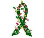 Christmas Lights Ribbon Liver Disease Gifts