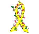 Christmas Lights Ribbon Testicular Cancer Gifts