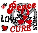 Peace Love Cure 2 AIDS Shirts Gifts