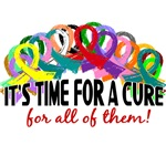 Time For A Cure Awareness Ribbon Gifts