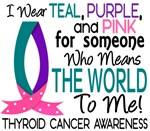 Means World To Me 1 Thyroid Cancer Shirts
