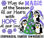 Esophageal Cancer Christmas Cards and Gifts