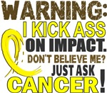 Kick Ass On Impact Testicular Cancer Shirts