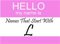 Names That Start With L