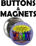 Celebrate Diversity buttons & magnets