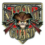 US Army National Guard Shield Skull
