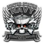 USN Navy 1775 Skull