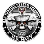 USN Gas Turbine System Technician Skull GS