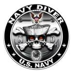 USN Navy Diver Skull ND
