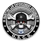 USCG Maritime Law Enforcement Specialist Skull ME