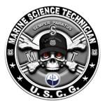 USCG Marine Science Technician Skull MST