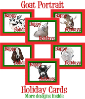 Goat Portrait Holiday Cards