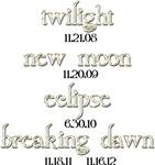 Twilight Saga Movie Dates